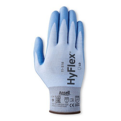 Ansell AN11-518L Hyflex Gloves Light Weight Cut Resistant Size 9 Large