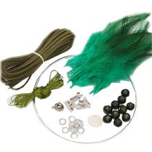 2 Pcs DIY Dream Catcher Craft Kit Meaningful Christmas Gifts by Hand - Green