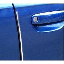 Chrome Door Guard & Edge Protector - Etech Strip 2m Roll Self Adhesive Car -  door etech edge protector guard strip 2m roll self chrome adhesive car