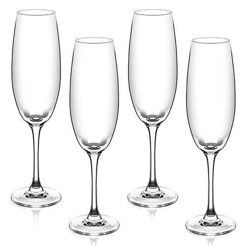 Judge Crystalline Set of 4 Champagne Flutes 200ml