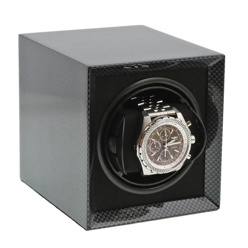 Carbon Fibre Watch Winder for 1 Watch Mains or Battery by Aevitas