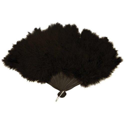 Black Feather Fan - 45cm x 27cm