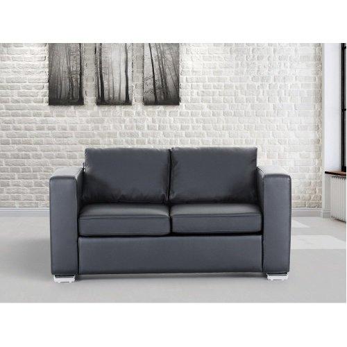 Leather 2 Seater Sofa -  Loveseat - HELSINKI