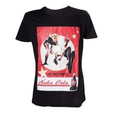 Fallout 4 Adult Male Nuka Cola 'Zap That Thirst!' T-Shirt, Small, Black (Model No. TS201601FOT-S)