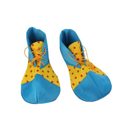 Cloth Clown Shoes Pretend Games Shoes For Adults Party Clown Costume Supplies, Blue and Yellow