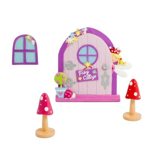 Magical Outside / Garden Fairy Door & Window Set - Glittery Kids Fairy Door Ornament - Lucy Locket