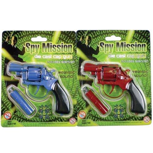 Spy Mission Die Cast Metal Cap Gun -with Silencer