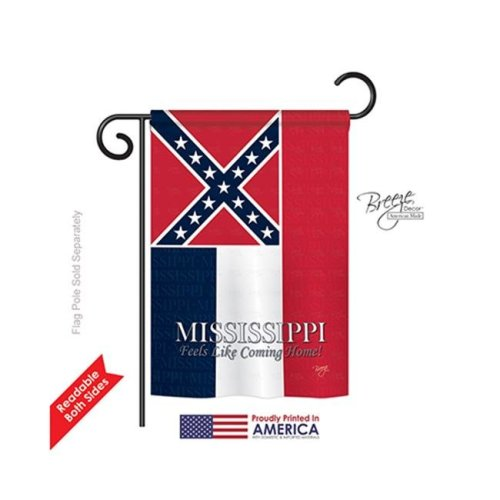 Breeze Decor 58143 States Mississippi 2-Sided Impression Garden Flag - 13 x 18.5 in.