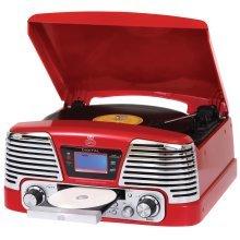 Memphis - Vinyl Turntable, MP3 Player, FM Radio & CD Deck