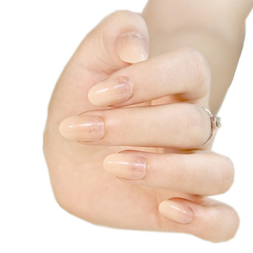 Stylish Gradient Nail Art French Style Pre-designed False Nails, Flesh