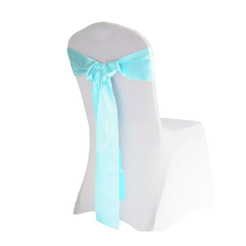 10PCS Wedding Anniversary Ribbon Elegant Chair Cover Bands Decor-Blue