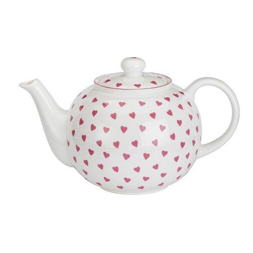 Nina Campbell Pink Hearts Design Teapot, 900ml