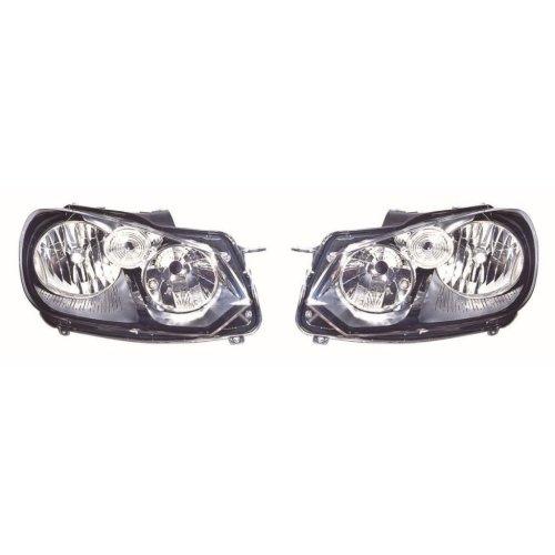 VW Golf Mk6 Hatchback 1/2009-6/2013 Black Headlights Headlamps 1 Pair O/S & N/S