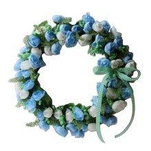 Artificial Wreath Hanging Floral Garland Door Wreath Wedding Decor #06