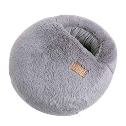 Multi-use Washable Winter Plush Slipper USB Charging Heating Foot Warmer For Home And Office #Gray Macaron