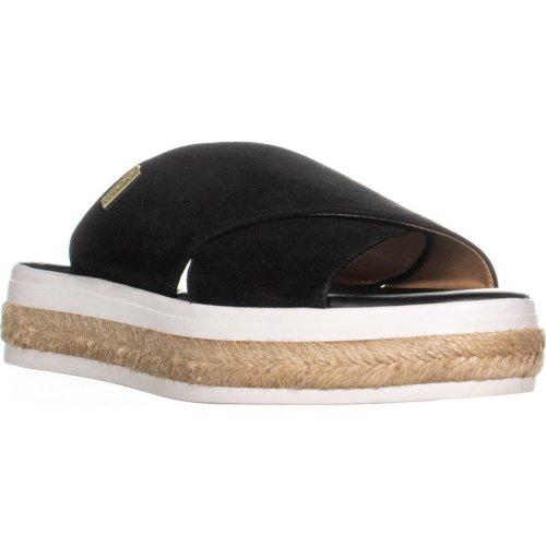 Calvin Klein Jupare Platform Espadrille Sandals, Black, 6 UK