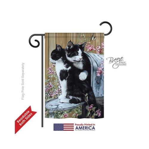 Breeze Decor 60079 Pets Tuxedo Cat 2-Sided Impression Garden Flag - 13 x 18.5 in.