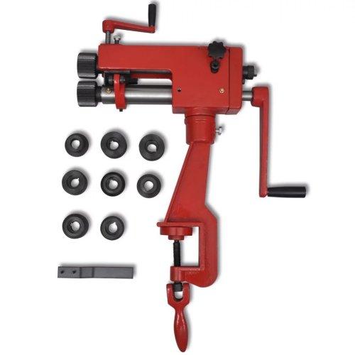 vidaXL Manual Tube Beading Machine Cast Iron Workbench Pipe Bead Form Tool