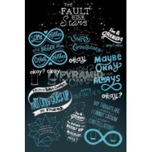 91.5 x 61cm The Fault In Our Stars Typography Maxi Poster -  new fault our stars typographic poster