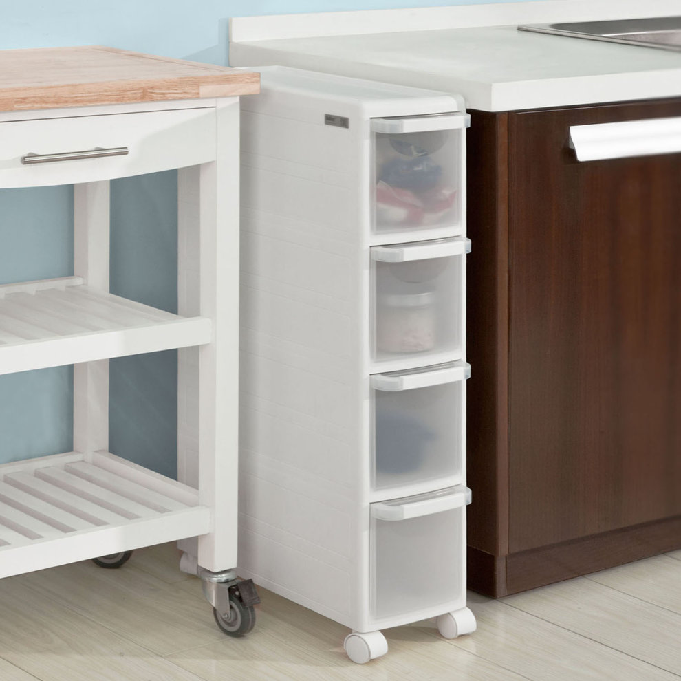 Sobuy 174 Frg41 W 4 Drawers Plastic Storage Drawer Unit On