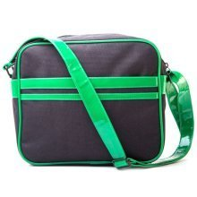 TEENAGE MUTANT NINJA TURTLES (TMNT) Messenger Bag with Faces Design, Black/Green (MB301000TNT)
