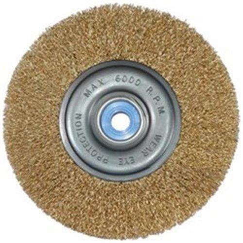 K Tool International KTI79205 8 in. Coarse Wide-Faced Crimped Wire Wheel Brush
