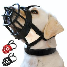 Anti-Bite Pet Muzzles Black Red Soft Rubber