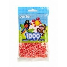Prl15148 - Perler Beads - 1000 Pc Pack - Hot Coral / Pearl Stripe