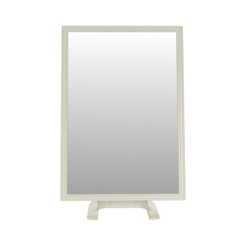 (White) Free-Standing Rectangular Dressing Table Mirror