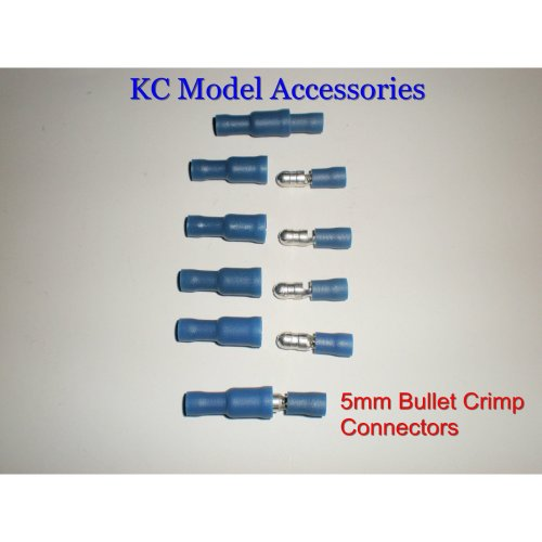 Bullet Crimp Connectors 5mm Insulated Male & Female x 6.