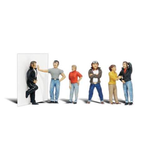 Painted Rebels (OO/HO figures x 6) Woodland Scenics A1849 - free post F2