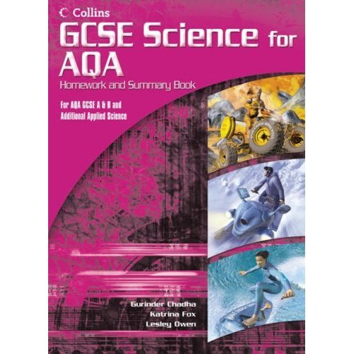 GCSE Science for AQA - Science Summary and Homework Book (Additional Applied)