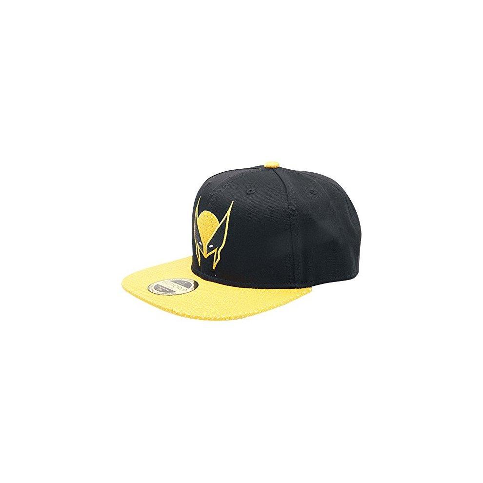 665b9842174 Meroncourt Marvel Comics X-Men Wolverine Mask Snapback Black Yellow  (Sb097583Xmn) Baseball.