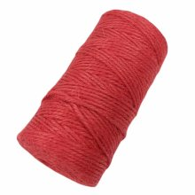 Red 2 Piece x 328 Feet - 2mm Jute Twine Packing Strings DIY Decorating Rope