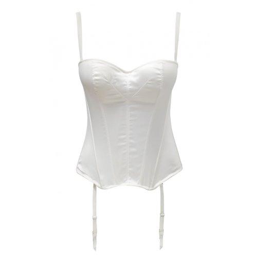 Panache 5437 Masquarade Tiffany Underwired Strapless Multiway Basque Ivory Off-White 28E