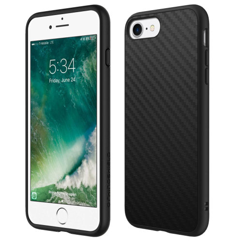 check out 1a4c0 263a3 Rhinoshield SolidSuit slim protective carbon case for Apple iPhone 7/8 -  Black