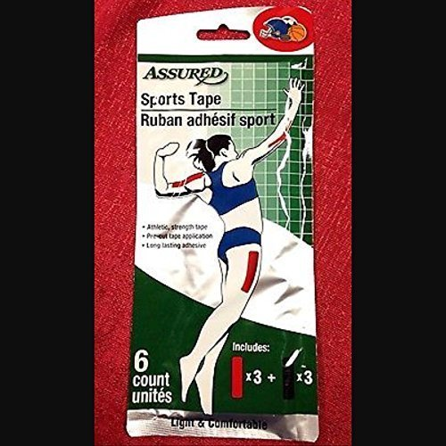 ASSURED Athletic SPORTS TAPE Adhesive Wraps 6ct