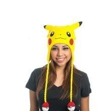 Pokemon Unisex Pikachu Face Laplander Earflap Beanie One Size - Yellow