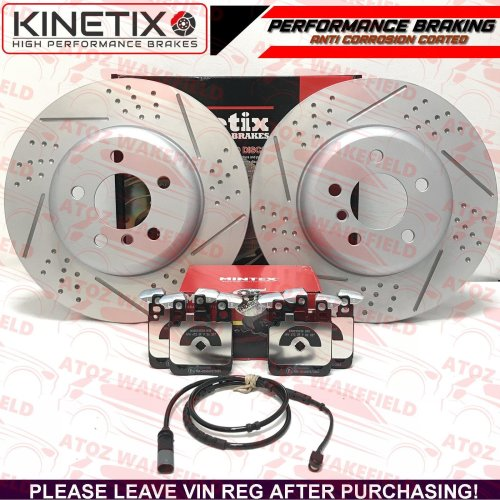 FOR BMW 320d xDrive M SPORT REAR DIMPLED GROOVED BRAKE DISCS MINTEX PADS 345