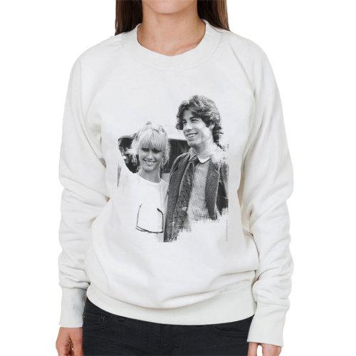 John Travolta Olivia Newton John Grease Release UK 1978 Women's Sweatshirt