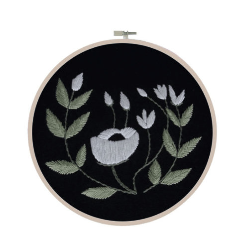 DIY Embroidery Kit Meaningful Gifts for Daily Activities (Black)
