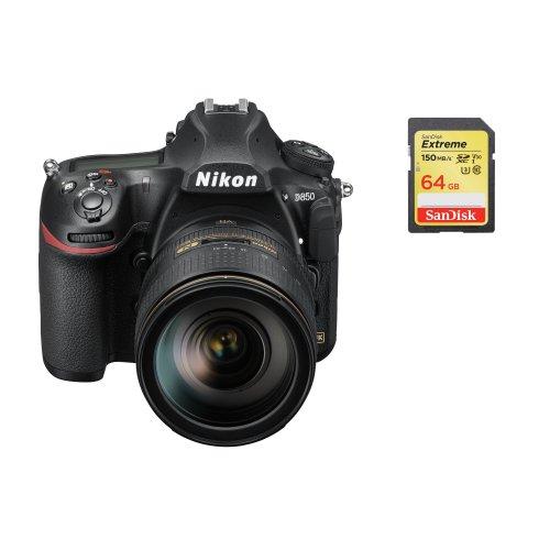 NIKON D850 KIT AF-S 24-120MM F4G ED VR + SanDisk Extreme 64G SD card