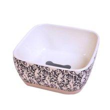 One Ceramic Feeding Pot/Pet Bowl/Dog Bowl/Cat Bowl For Food & Water 15x15x7.5CM(#01)