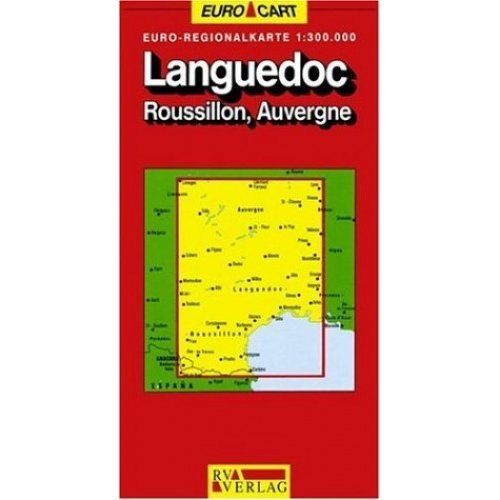 France Map: Languedoc/Roussillon/Auvergne Sheet 7 (GeoCenter Euro Map)