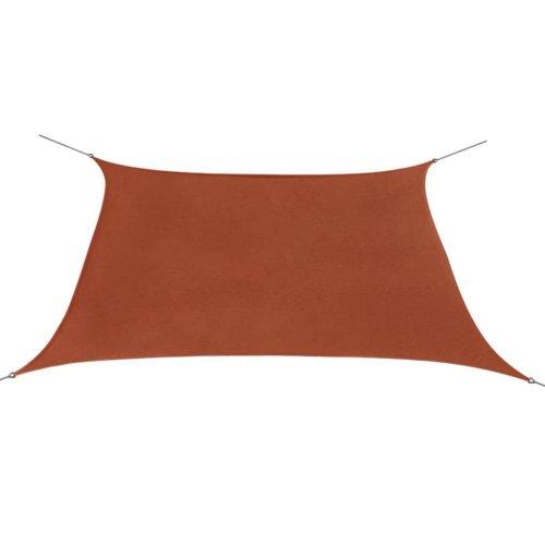 vidaXL Sunshade Sail Oxford Fabric Square 3.6x3.6 m Terracotta