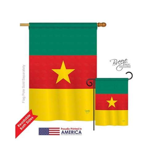 Breeze Decor 08218 Cameroon 2-Sided Vertical Impression House Flag - 28 x 40 in.