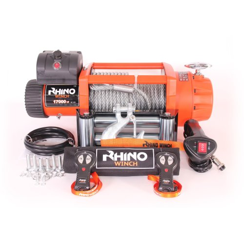Rhino Electric Winch Wireless Recovery 12v 17500Lb / 7940Kg