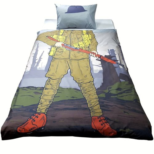Military Camouflage Army Boys Teenagers Kids Single Duvet Quilt Cover Set with Pillowcase. Children Bedding