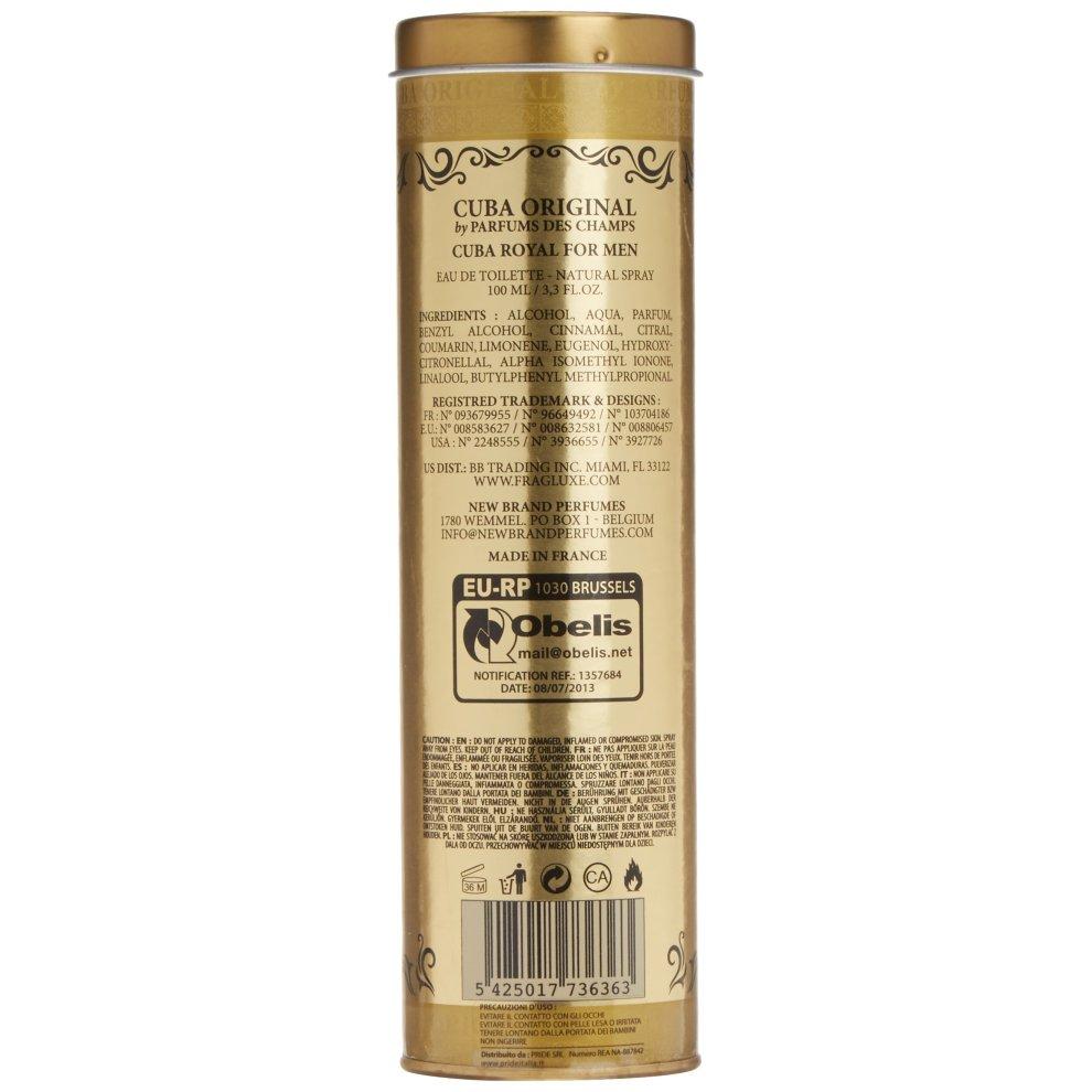 Parfum De France Cuba Royal Homme Eau De Toilette Spray 100 Ml On Onbuy