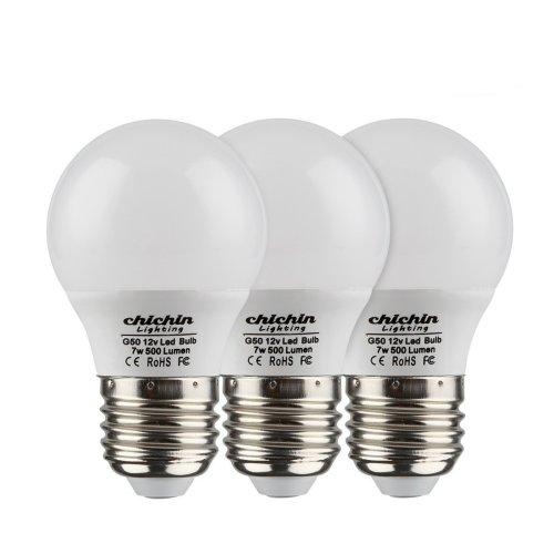ChiChinLighting 12 Volt 7 Watt LED Light Bulb 12v Low Voltage Off Grid  Solar System Marine Boat RV Caravan LED Lights (Cool White, 3-Pack)